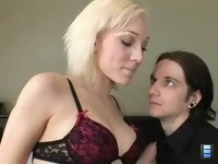 Husband not Lover: Lover Gabriel learns out Lily's husband sucks cock almost as well as she does!